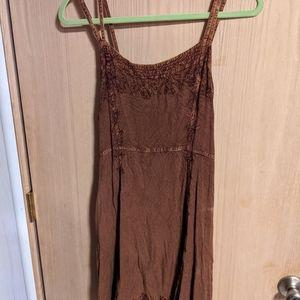 Boho style one size mini dress